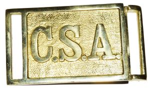 Confederate Officers Rectangular Belt Buckle